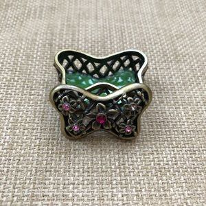 Small Metal Floral Butterfly Trinket Holder *READ*